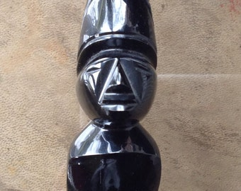Obsidian statuette from South America