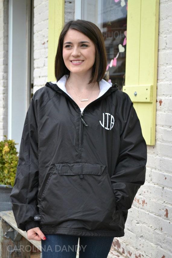 Monogrammed Rain Jacket Monogram Rain Coat Monogrammed