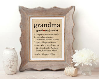 Definition of Grandma | Grandmother Gift | Grandma Gift | Christmas Gift for Grandma | Gifts for Grandma | Grandma Christmas Gift | Grandma
