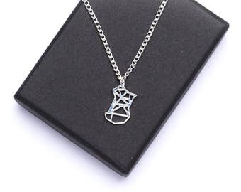 Origami Fox Necklace   Dainty Fox Necklace   Woodland Jewellery   Woodland Animal   Fox Charm Necklace