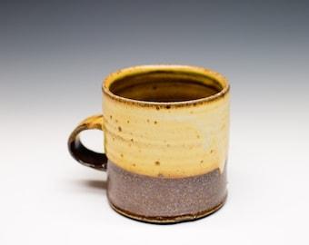 Salt Fired High-Iron Stoneware Mug - Yellow Glaze, 0425014