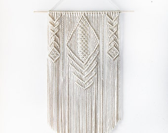 Handmade Aran Colored Macrame Wall Hanging