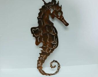 Seahorse Metal Wall Art/Metal Wall Decor/Beach Decor