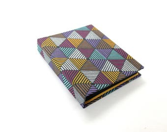 Geometric Hardcover Journal with Black Pages, Unique Notebook, Dream Journal, Black Paper Diary, Jotter, Autograph Book, Photo Album