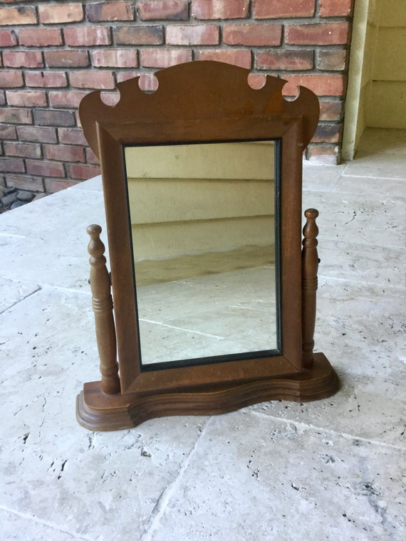 vintage standing mirror table mirror makeup mirror vanity. Black Bedroom Furniture Sets. Home Design Ideas