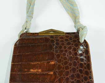 c1940s Snakeskin Leather Purse, Vintage Purse, Vintage HandBag, Purse, Vintage  Purse, Leather Purse, 1940s Purse, 1940s Handbag, Handbag