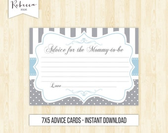 advice card advice for the mommy to be printable baby shower advice baby shower games grey advice card baby blue and grey baby shower 186