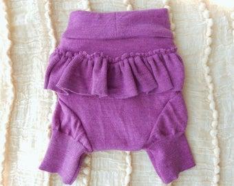 Bold Lilac Ruffle-bum Shorties - SMALL