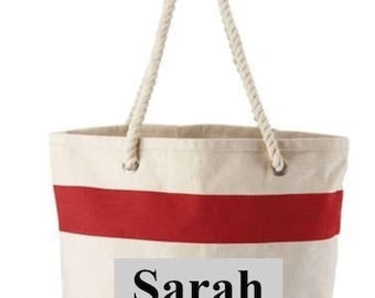 Monogrammed Tote Bag with Rope Handle -- NEW LOWER PRICE---While they Last !!!!