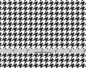 Black Houndstooth Fabric, Maywood Studio MAS8206 J, Black and White Houndstooth Quilt Fabric, KimberBell Basics, Cotton