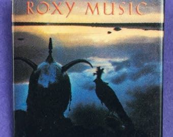Roxy Music Original 1980s Vintage Dead Stock Square Pin