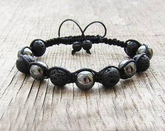 Dad gift for Husband bracelet for him Men bracelet mens beaded bracelet bohemian bracelet braided bracelet rope bracelet shamballa bracelet