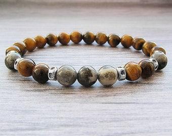 Men bracelets Mens gift for men jewellery Tiger eye bracelet for men  bracelets Labradorite bracelet Yoga bracelets Stackable
