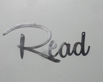 Read - Metal Sign  Wall decor R12