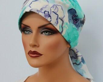 Gabrielle Pre-Tied Head Scarf -Women's Cancer Headwear, Chemo Scarf, Alopecia Hat, Head Wrap,  Head Cover for Hair Loss.