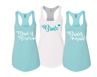 Bridesmaid Tanks, Bridesmaid Shirts , Bridesmaid Tanktops, Bachelorette Party Shirts, Bridesmaid Tank