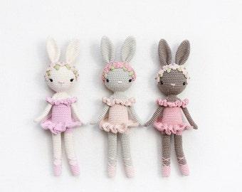 Ballerina Bunny Charlotte - Kikalite - English amigurumi crochet pattern