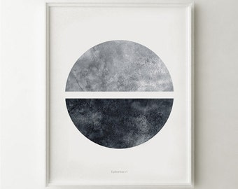 Modern black and white wall art, Geometric art print, Digital download art PRINTABLE wall art Black and white decor, Modern apartment decor
