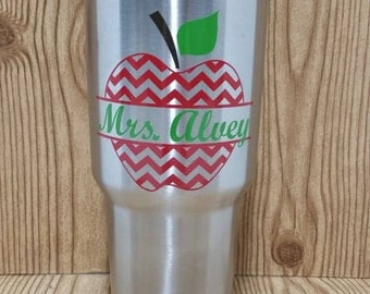 Personalized Teacher Appreciation Gift 30 oz. Stainless Steel Tumbler
