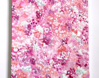 Pink Blooms Abstract Painting