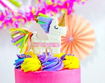 Pegacorn Cake Topper, Pegacorn Pinata, Unicorn Party, Unicorn Wedding, Unicorn Decoration, Unicorn Birthday, Rainbow Party, 1 Cake Topper