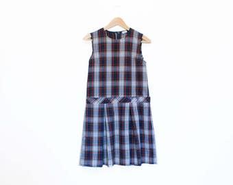 Vintage 1980/90s Plaid Schoolgirl Uniform, Size M