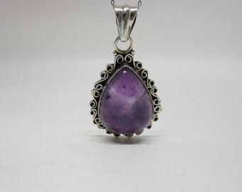 Silver Amethyst Charm, Purple charm