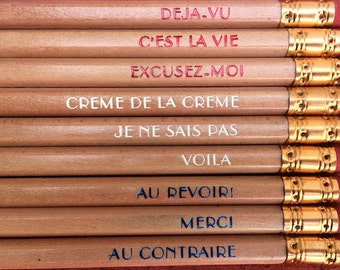 French Sayings pencils