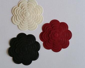 Pinpoint Scallop Flower Die Cuts