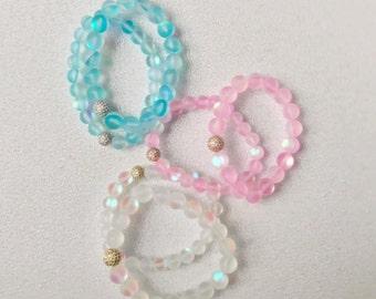 Crystal Bracelets for Women - Bead Bracelets - Beaded Stretch Bracelets - Beach Bracelets for Girls - Healing Crystal Jewelry - boho jewelry