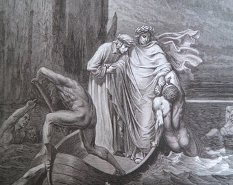 Dante's Inferno by Gustave Dore Antique Print circa 1880 Hell (132)