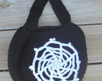 Spiderweb Trick or Treat Bag, Candy Bag, Crochet Trick or Treat Bag, Trick or Treat Bag