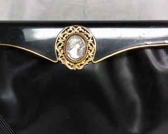 Black leather Harry Rosenfeld handbag