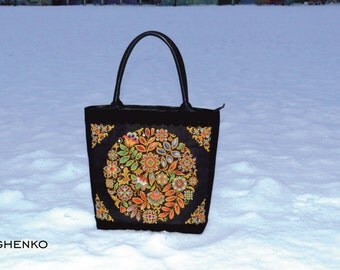 Handbag, leather bag, for her, embroidered by hand, Italian suede, crosstitch by hand, made in ukraine, embroidery bag, ukraine bag