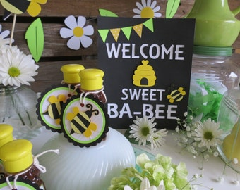 Bumble Bee Baby Shower Sign - Spring Baby Shower, Spring Party