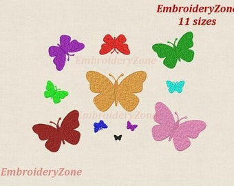 Machine Embroidery design Mini butterfly. Miniature basic butterfly for decor machine embroidery design. 11 sizes Hoop 4 x 4.