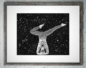 Zodiac Constellation Sagittarius Wall Art Decor, Sagittarius Birthday Wall Art Decor, Sagittarius Constellation Wall Art Decor, Star Space