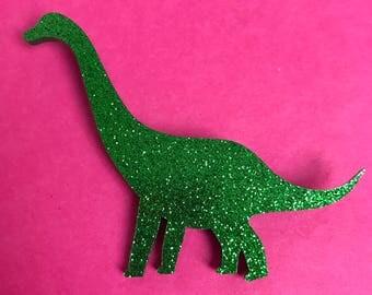 Glitter Brontosaurus Dinosaur Brooch