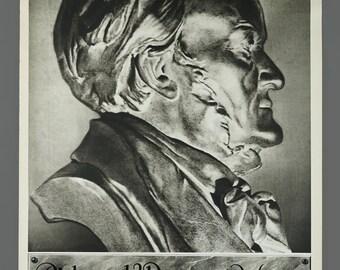 1960s German Richard Wagner 1933 Travel Poster 19.5 x 29 Vintage Poster Original