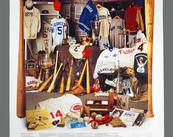 "1984 MLB Baseball The Pride of America Hall of Fame Poster Vintage Baseball Poster 24.5"" x 37.5"""
