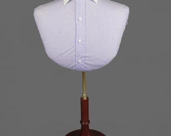 Vintage Adjustable Shirt Display Form Dress Form Wooden Base