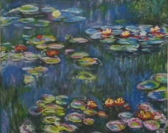 """Art reproduction - oil on canvas - """"The Water Lilies"""" by Monet"""