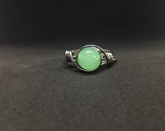 Jadeite Wire Wrapped Ring