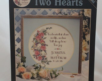 Karen Avery - Two Hearts - Dimensions Cross Stitch Leaflet - Wedding