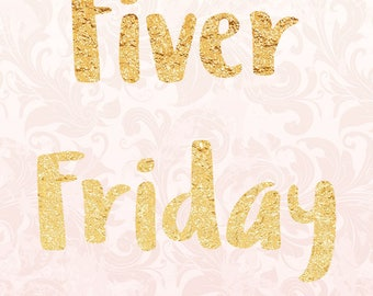 Fiver Friday - Foil Sticker Pack - Happy Mail - Envelope Stickers - Thank you
