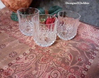 LEAD CRYSTAL HIGHBALL glasses, vintage, retro, barware, drinkware, kitchen, dining, party, bar, drink