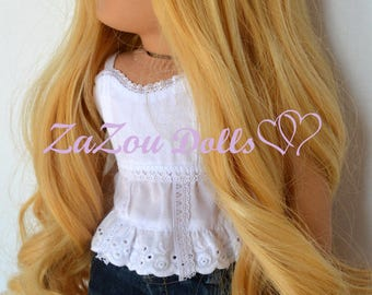 Zazou Dolls  Princess WIG  for 18 Inch dolls such as Journey, Our Generation and American Girl