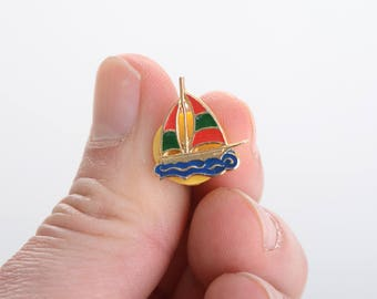 Boat enamel pin, lapel pin, enamel pin, summer lapel pin, sea lapel pin, nautical enamel pin