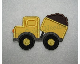Construction Dump Truck Iron On Sew On Embroidered Applique Patch Boys Iron On Patch Baby Shower Kids Fabric Iron On Shirt Supplies Children