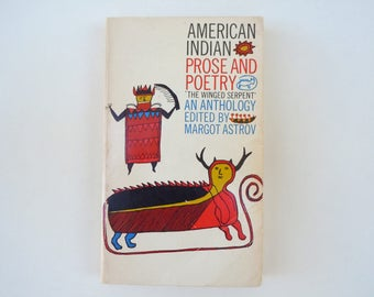American Indian Prose and Poetry Anthology by Margot Astrov Vintage Paperback
